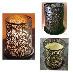 🆕Party lite Thai Inspiration 3 wick Candle Holder